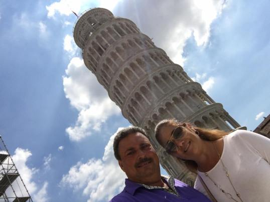 Jorge and Linda leaning tower
